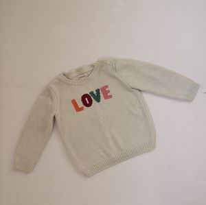 Gymboree LOVE Knit pullover crew neck sweater